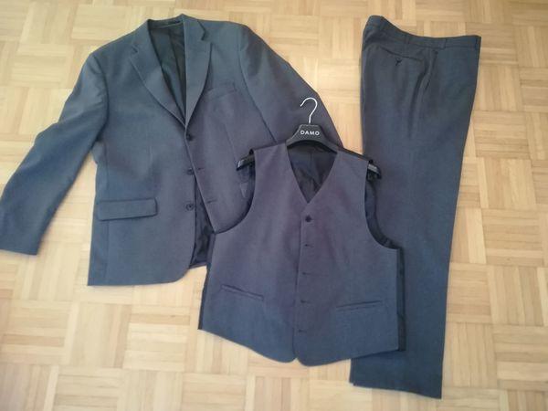 Anzug grau mit Weste und