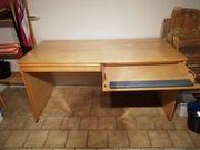 Schreibtisch Birkeechtholzfurnier zu verschenen