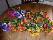 Kunstblumen fürs Frühjahr neu Bänder