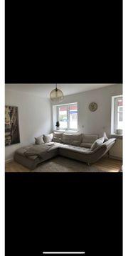 Eckcouch Sofa Wohnlandschaft in beige