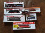 Fleischmann und Arnold Lokomotiven Spur