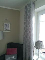 Vorhang mit Ösen neu grau