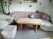 Sofa Couch mit Ottomane bunt