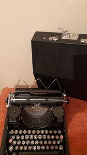 Alte Reiseschreibmaschine Continental schwarz 50