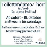 Suche Toilettendame -herr m w
