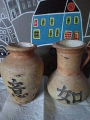 Zwei Terracotta Vasen