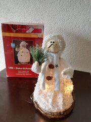 Weihnachtsdeko Schneemann mit Beleuchtung von