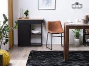 Teppich Leder schwarz 140 x