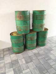 4 Metall-Fässer 60l