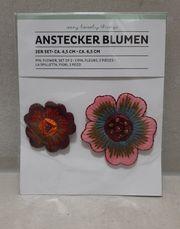 Anstecker - Blumen - Brosche - NEU