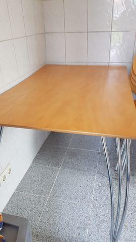 Speisezimmer, Essecken - Set Tisch mit 6 Stühlen
