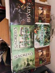 Merchandising Aufsteller Würfel Sacred und