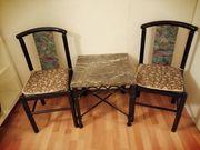 Tisch schw mit Marmorplatte 2
