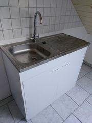 Küchenspüle aus Edelstahl 100 cm