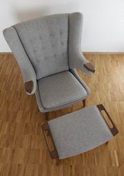 Papa Bear Chair mit Ottomane