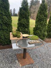 Gartentisch Brotbacktisch Pflanztisch Granit 1m2