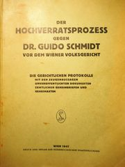 Dr Guido Schmidt Hochverratsprozess