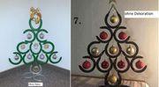 Weihnachtsbaum Kunst Metall Christbaum Handmade