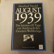 Buch August 1939 von Manfred