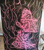 Acrylmalerei Frau auf Leinwand mit