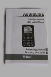 Bedienungsanleitung Audioline M4600 GSM Großtastenhandy