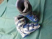 Skischuhe von LOWA weiß blau
