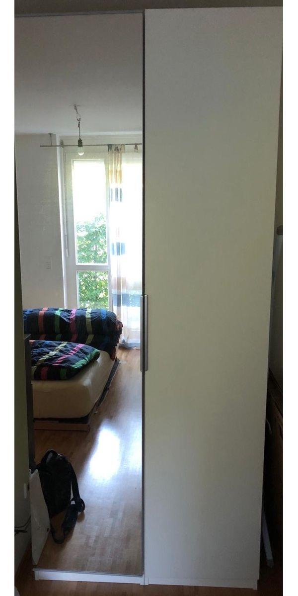 Ikea Pax Schrank Weiß Mit Spiegeltür Bxhxt 100 X 236 X 60 In