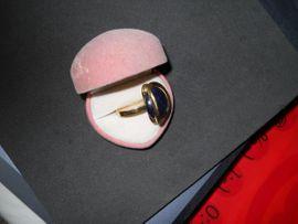 Schmuck, Brillen, Edelmetalle - schicker Lapizlazuli Ring