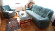 Couchgarnitur Hocker und Couchtisch