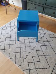 Nachttisch blau IKEA