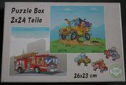 Puzzle 2x24 Teile Jeep Feuerwehr