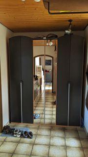 Kleiderschrank anthrazit mit Spiegel Schlafzimmer