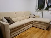 Couch Beige mit Bettkasten und