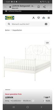 Doppelbett in Weiß 140x200
