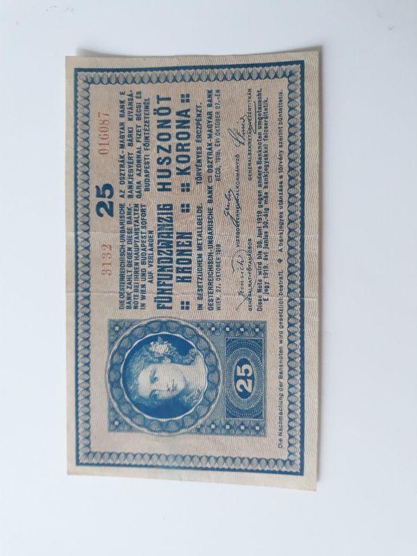 Banknote 25 Kronen