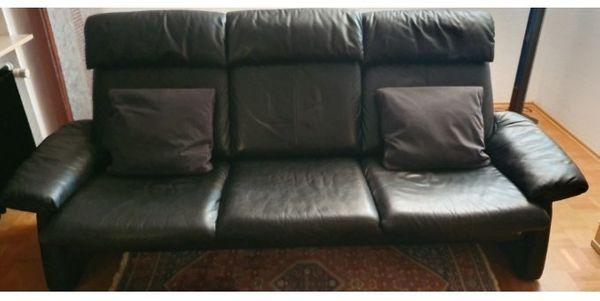 Ledersofa Couch 3 Sitzer 2