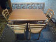 Großer Küchentisch ausziehbar 4 Stühle