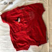 sommerlicher roter Einteiler Größe 68