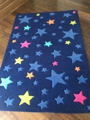 Teppich im Sterndesign blau 115