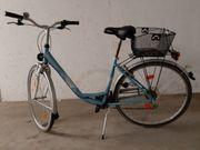 Damen Fahrrad blau mit Tiefeinstieg