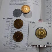 10 Pfennig Satz 1967 D-J