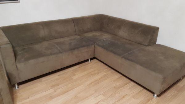 Dunkelbraune Couch inkl Sessel