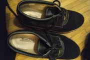 Schuhe leder schwarz