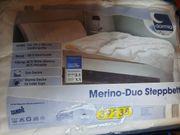 Neues Merino-Duo Steppbett ca 155x