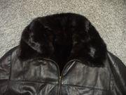 Lederjacke schwarz Gr 48 f
