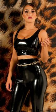 SEXY KOUCLA LATEXLOOK CROP TOP