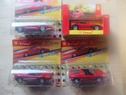 4 Modelautos 1 38 Ferrari