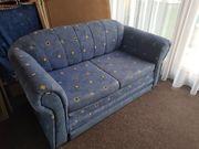 Kleines blaues 2 Sitzer Sofa