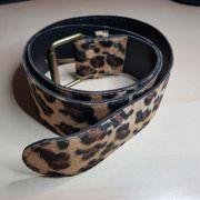 Fasching 110cm Gürtel Damengürtel Leopardenmuster