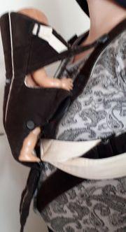 BabyBjörn Tragesitz Active Dunkelbraun-Beige Kord